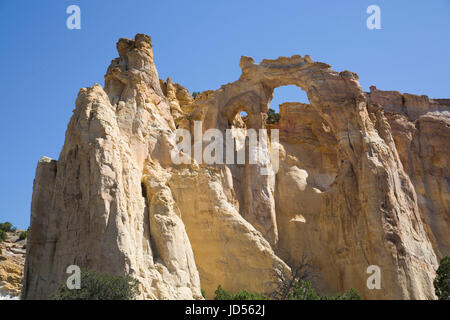 Grosvenor Arch, Grand Staircase-Escalante National Monument, Utah, USA - Stock Photo