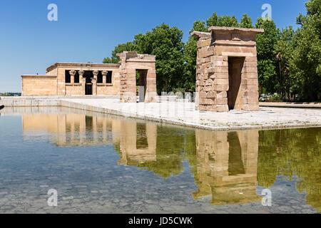 Temple of Debod in Madrid - Spain - Stock Photo