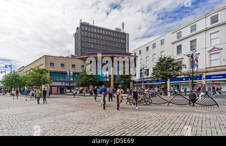 Overgate Shopping Centre entrance at High Street opposite City Square in Dundee Tayside Scotland UK - Stock Photo