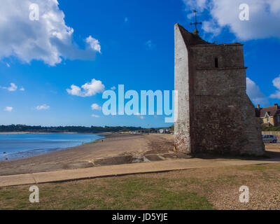 The remains of St Helen's church at St Helen's Duver, Nodes point, Isle of Wight - Stock Photo