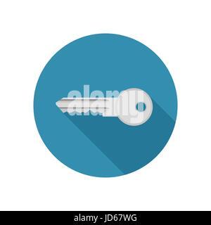 Key icon in flat style - Stock Photo
