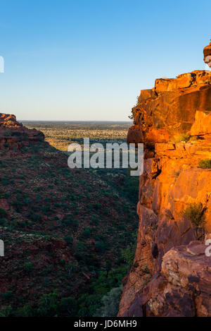 Dramatic scenery at Kings Canyon, Northern Territory, Australia - Stock Photo