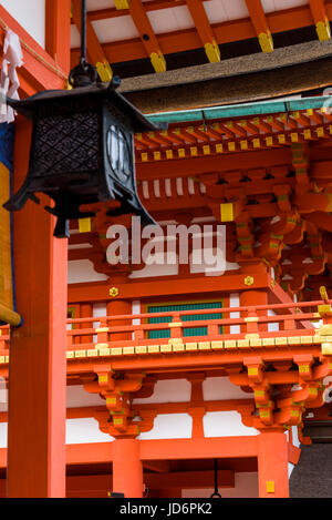 Fushimi Inari Taisha shrine, lantern and building details. - Stock Photo