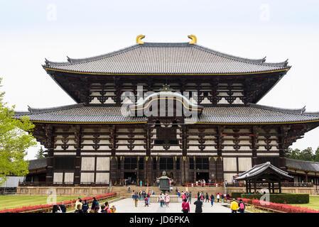Tōdai-ji, Eastern Great Temple, great buddha hall - Stock Photo