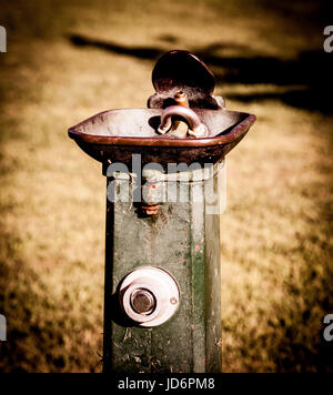 Water fountain. Old Water Fountain. Parks. Public parks. Rusty - Stock Photo