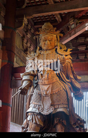 Komokuten, one of the pair of guardians in the Daibutsuden, Tōdai-ji Eastern Great Temple - Stock Photo
