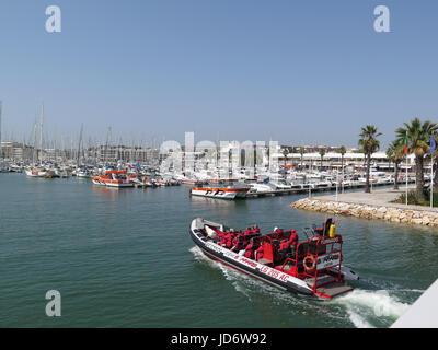 Lagos Marina, Lagos, Portugal - Stock Photo