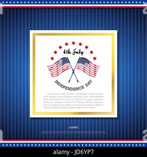 Independence day design element, Vector eps10 - Stock Photo