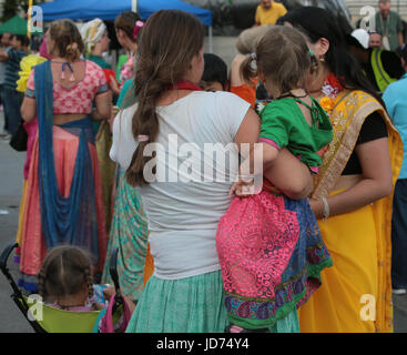 London, UK. 18th June, 2017. The Hare Krishna faith gathered in central London for one of their biggest festival - Stock Photo