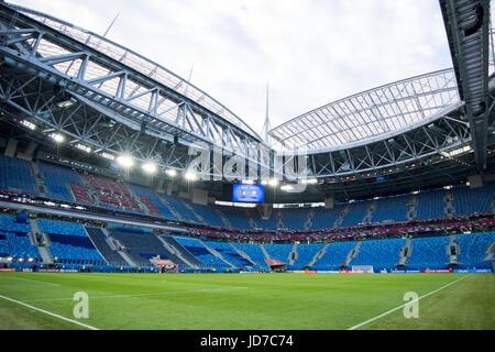 St. Petersburg, Russia. 17th June, 2017. The stadium St. Petersburg can be seen in St. Petersburg, Russia, 17 June - Stock Photo