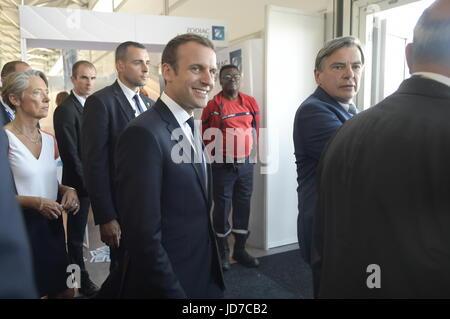 Paris, France. 19th June, 2017. Julien Mattia / Le Pictorium -  Emmanuel Macron at the Paris Air Show  -  19/06/2017 - Stock Photo
