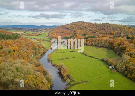 Autumn in the Forest of Dean from Symonds Yat Rock, Herefordshire, England, UK - Stock Photo