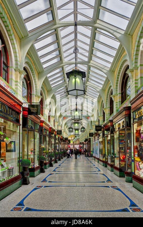 Royal Arcade shopping area in Norwich, England - Stock Photo