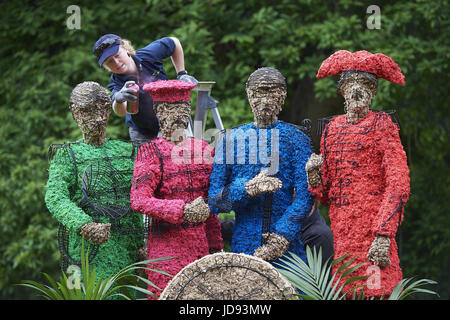 To celebrate 50 years since The Beatles released Sgt Pepper's Lonely Hearts Club, Chiswick House and Gardens host - Stock Photo