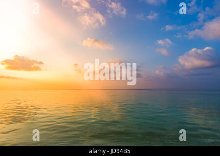 Vacation holidays background wallpaper, two beach lounge chairs under tent on beach. Tropical Holiday Banner - Stock Photo