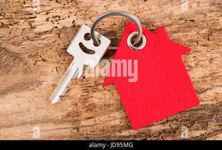 house key on keyring - Stock Photo