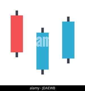 Diagram Japanese Candles Vector Icon. Flat icon isolated on the white background. Editable EPS file. Vector illustration. - Stock Photo