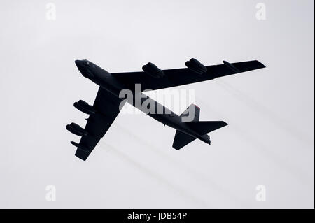 An American long-range strategic bomber Boeing B-52 Stratofortress during the 45th edition of Exercise BALTIC OPERATIONS - Stock Photo