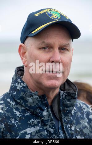 Vice Admiral Christopher Grady U.S. 6th Fleet Commander,  Naval Striking and Support Forces NATO STRIKFORNATO Commander, - Stock Photo