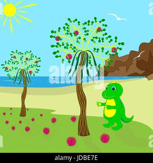baby dragon cartoon character. - Stock Photo