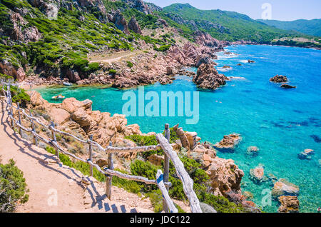 Stony walk path in Costa Paradiso, Sardinia - Italy. - Stock Photo