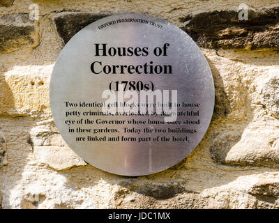 House of Corrections, 1780s, Oxford Castle, Oxford, Oxfordshire, England - Stock Photo