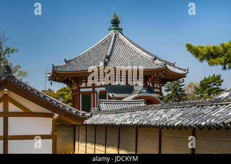 The  Kōfuku-ji Buddhist temple complex in Nara, Nara Prefecture, Honshu Island, Japan. - Stock Photo