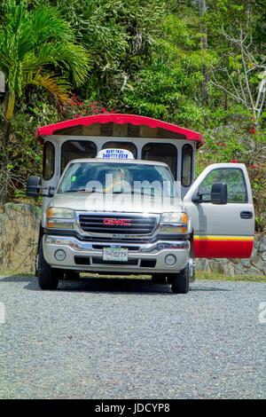 Tourist Taxi, St Thomas, Caribbean - Stock Photo
