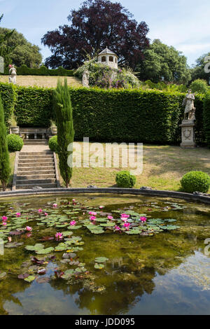 The Gardens at Belvoir Castle, Leicestershire England UK - Stock Photo