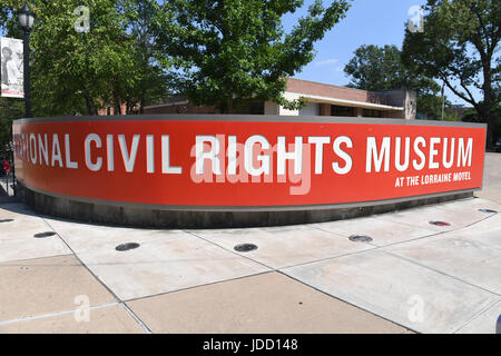 Memphis, TN, USA - June 9, 2017: The National Civil Rights Museum at the Lorraine Motel where Dr. Martin Luther - Stock Photo