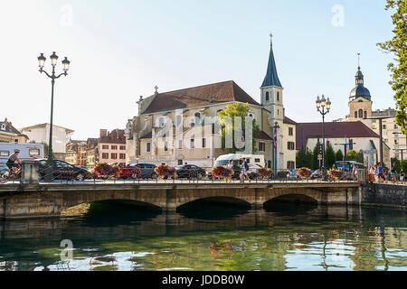 Church of St. Francis de Sales, Annecy, France - Stock Photo