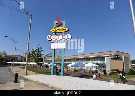 Memphis, TN, USA - June 9, 2017: The Lorraine Motel and site of the National Civil Rights Museum where Dr. Martin Luther King Jr. was assassinated