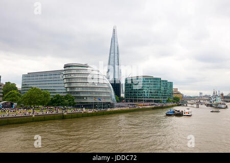 The London City Hall and River Thames - Stock Photo