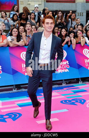 June 18, 2017 - Toronto, ON, Canada - 18 June 2017 - Toronto, Ontario, Canada.  KJ Apa arrives on the pink carpet - Stock Photo