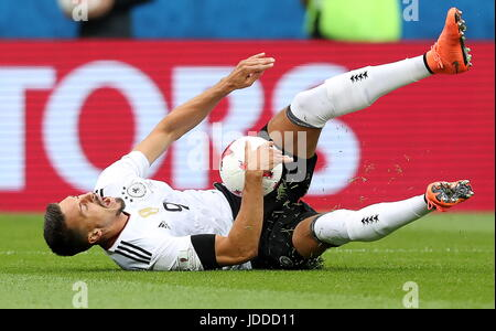 Sochi, Russia. 19th June, 2017. Germany's Sandro Wagner in the 2017 FIFA Confederations Cup Group B football match - Stock Photo