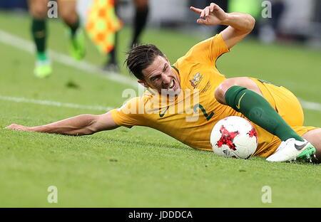 Sochi, Russia. 19th June, 2017. Australia's Milos Degenek in the 2017 FIFA Confederations Cup Group B football match - Stock Photo