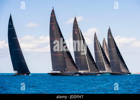 Bermuda, 19th June 2017, America's Cup J Class Regatta. Credit: Chris Cameron/Alamy Live News - Stock Photo