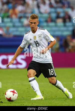 Sochi, Russia. 19th June, 2017. Germany's Joshua Kimmich in action during the Confederations Cup group stages Group - Stock Photo