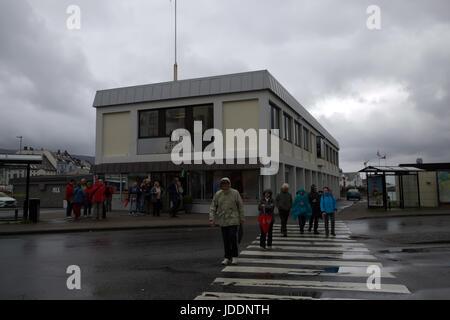 Weather, Norway, Grey and Dismal start in Alesund Credit: Keith Larby/Alamy Live News - Stock Photo