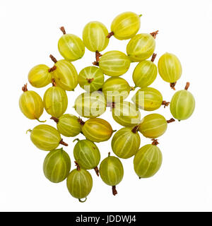 Gooseberries on a white background - Stock Photo