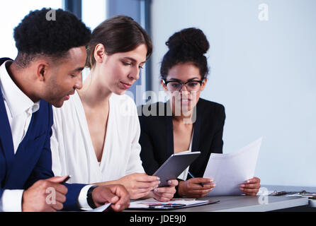 Team of business person works together. Concept of teamwork - Stock Photo