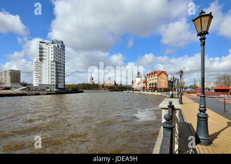 Kaliningrad, Russia-22 April 2017: The fishing village-the cultural and ethnographic complex, the tourist attraction - Stock Photo