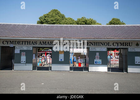 General view of the Royal Welsh Showground, Llanelwedd, Builth Wells, Powys, Wales, UK, July 19th 2016. - Stock Photo
