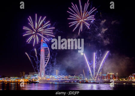 Spinnaker festive firework at night - Stock Photo