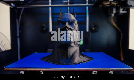 Batman figure 3D printed in a 3D Printer. - Stock Photo