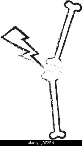 drawing bone human pain anatomical - Stock Photo
