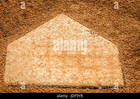 United States; Olive Branch, MS Park Closeup of baseball base as a favorite past time in the Southern US