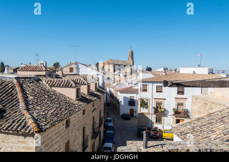 Baeza city (World Heritage Site), Cathedral in the background, Jaen, Spain - Stock Photo