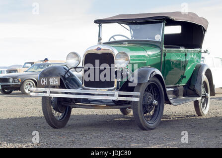 QUEENSTOWN, SOUTH AFRICA - 17 June 2017: Vintage Model T Ford car parked at public show in Queenstown - Stock Photo