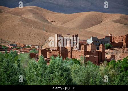 Kasbah In Ruins. Ait Ibriren Village, Dades Gorges Royalty